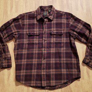 Timberland Brown Button Down Shirt Men's Large